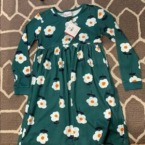 Hanna Andersson Green Flower Dress New With Tags